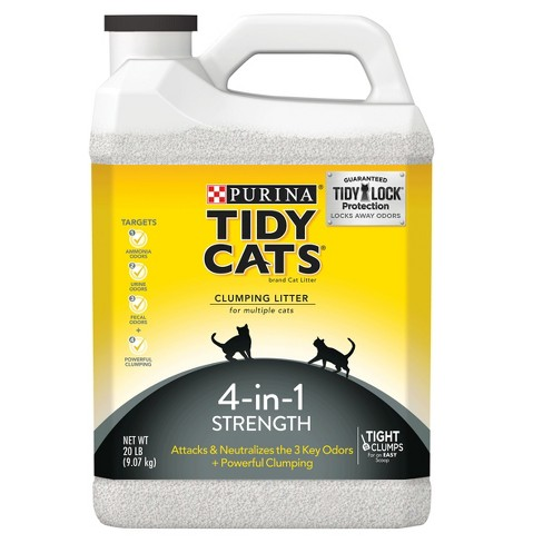 Purina Tidy Cats Clumping Cat Litter 4-in-1 Strength for Multiple Cats - 20lb Jug - image 1 of 5