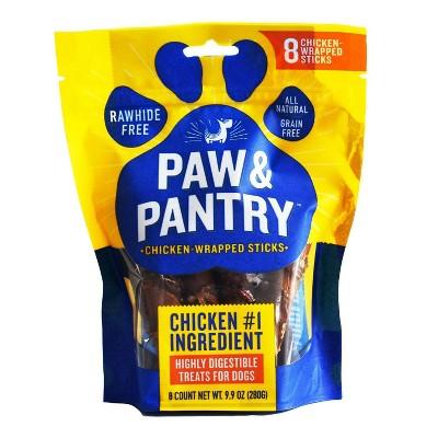 Paw & Pantry Chicken-Wrapped Sticks Dog Treats - 8pk