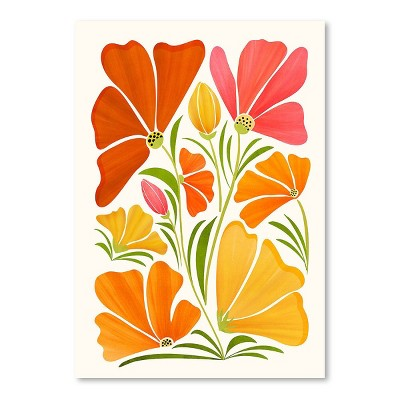 Americanflat Spring Wildflowers by Modern Tropical Poster