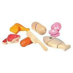 PlanToys Meat Set, play food and toy kitchens