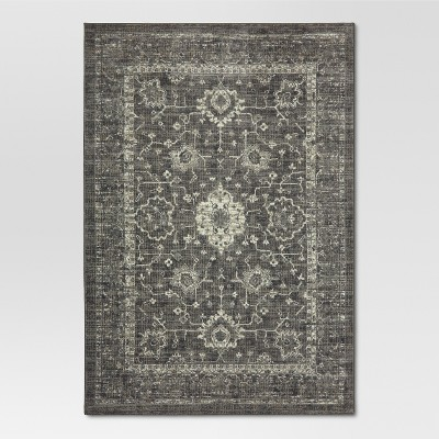 Vintage Distressed Accent Rug - Gray - (5'x7')- Threshold™