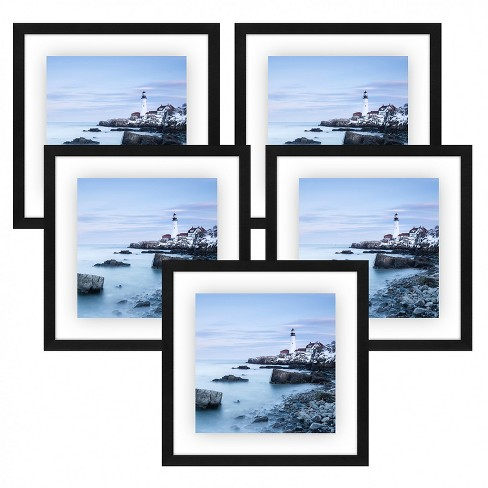 Americanflat Floating Picture Frame with Polished Lead Free Glass - Horizontal and Vertical Formats for Wall - Multiple Sizes & Multipacks - image 1 of 4