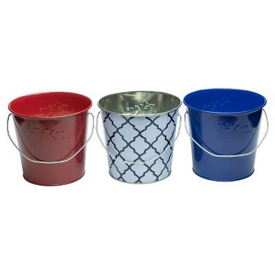 17 Oz. Americana Citronella Wax Citronella Candle Metal 3pc - Multi Color - TIKI®
