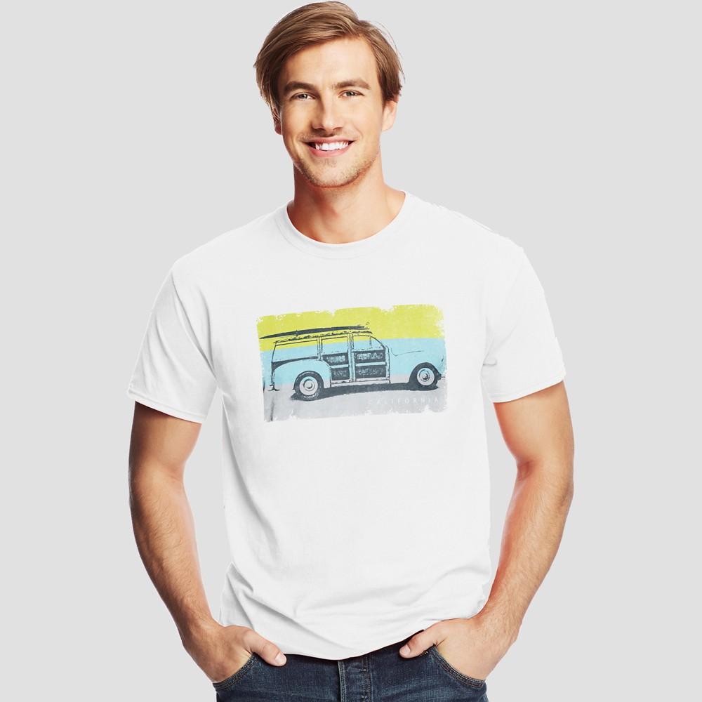 Hanes Men's Short Sleeve Graphic T-Shirt - Fresh White M