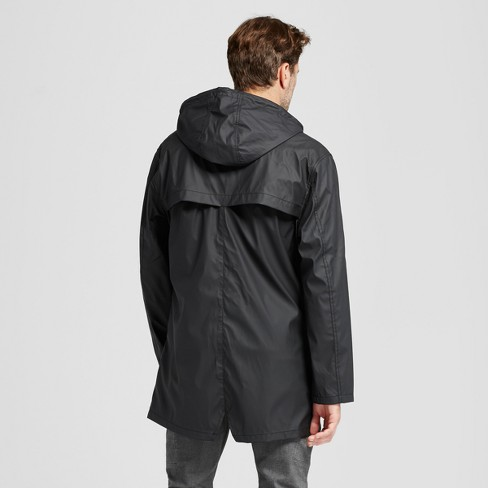 Men s Standard Fit Rain Jacket - Goodfellow   Co™ Black S   Target 59e7ad9ac615