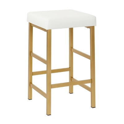 """26"""" Gold Backless Counter Height Barstool - OSP Home Furnishings"""