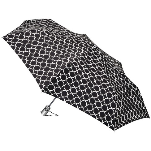 totes Auto Open Umbrella - Black Metro Dot - image 1 of 2