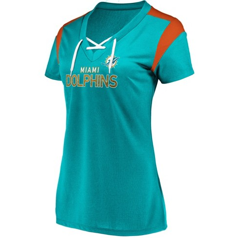 NFL Miami Dolphins Women's Shimmer Top Fashion Top - image 1 of 2