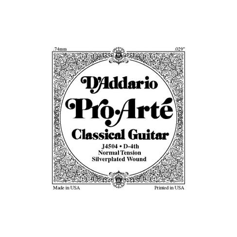 D'Addario J45 D-4 Pro-Arte Composites Normal Single Classical Guitar String - image 1 of 2