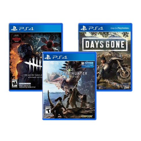 Days Gone / Dead by Daylight / Monster Hunter World - 3 Video Game Pack - PlayStation 4 - image 1 of 4
