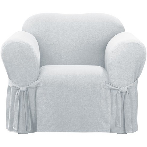 Farmhouse Basketweave Chair Slipcover, Sure Fit Slipcovers Chair