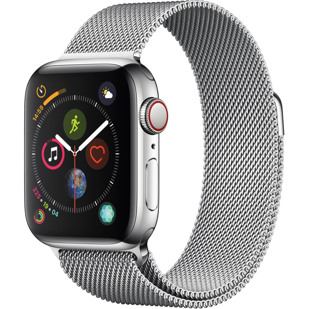 Apple Watch Series 4 Gps & Cellular 40mm Silver Stainless Steel Case with Milanese Loop