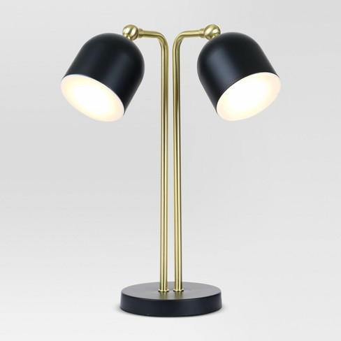 Dylan Bullet Shaped Dual Head Table Lamp Black (Includes LED Light Bulb) - Project 62™ - image 1 of 1