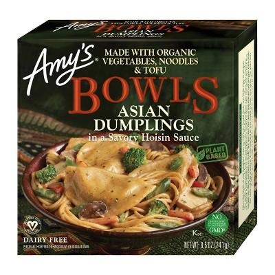 Amy's Frozen Asian Dumplings with Hoisin Sauce Bowl - 8.5oz