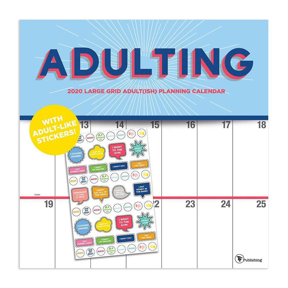 Image of 2020 Wall Calendar Big Grid - Adulting