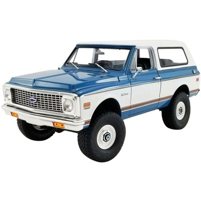 1972 Chevrolet K5 Blazer Medium Blue and White Limited Edition to 1344 pieces Worldwide 1/18 Diecast Model Car by ACME