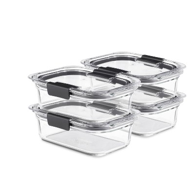 Rubbermaid 8pc Brilliance Glass Food Storage Container Set