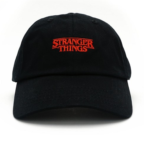 439ec6b9c39 Loungefly Stranger Things Logo Black Baseball Hat   Target