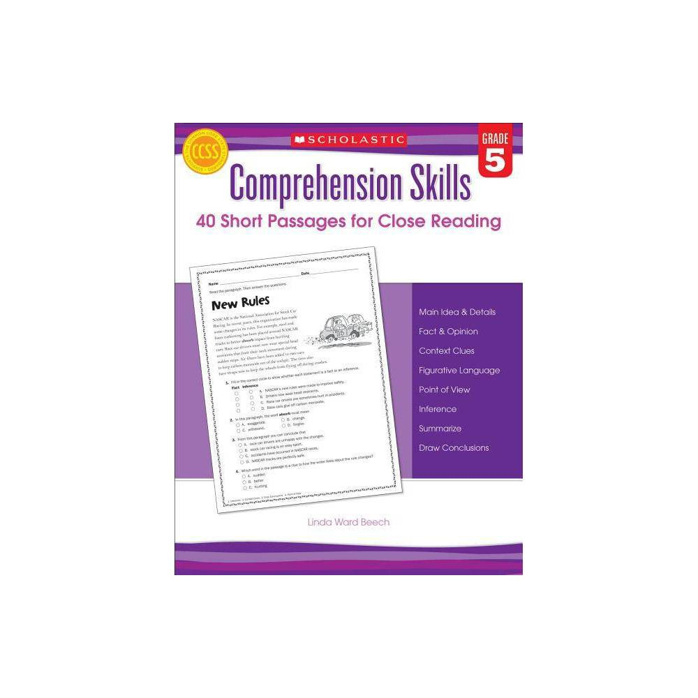Comprehension Skills 40 Short Passages For Close Reading Grade 5 By Linda Beech Paperback
