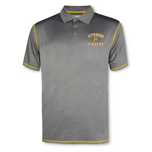 MLB Pittsburgh Pirates Men's Your Team Gray Polo Shirt - image 1 of 1
