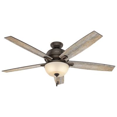 60  Donegan Bowl Light Onyx Bengal Ceiling Fan with Light - Hunter Fan