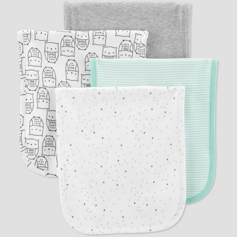 Baby 4pk Burpcloth Set Just One You Made By Carter S Gray Target