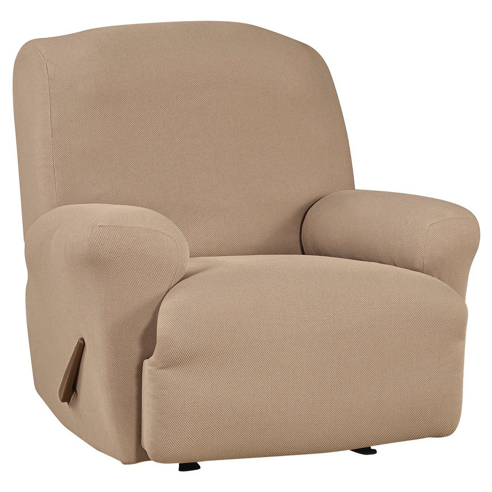 Stretch Twill Recliner Slipcover Taupe (Brown) - Sure Fit