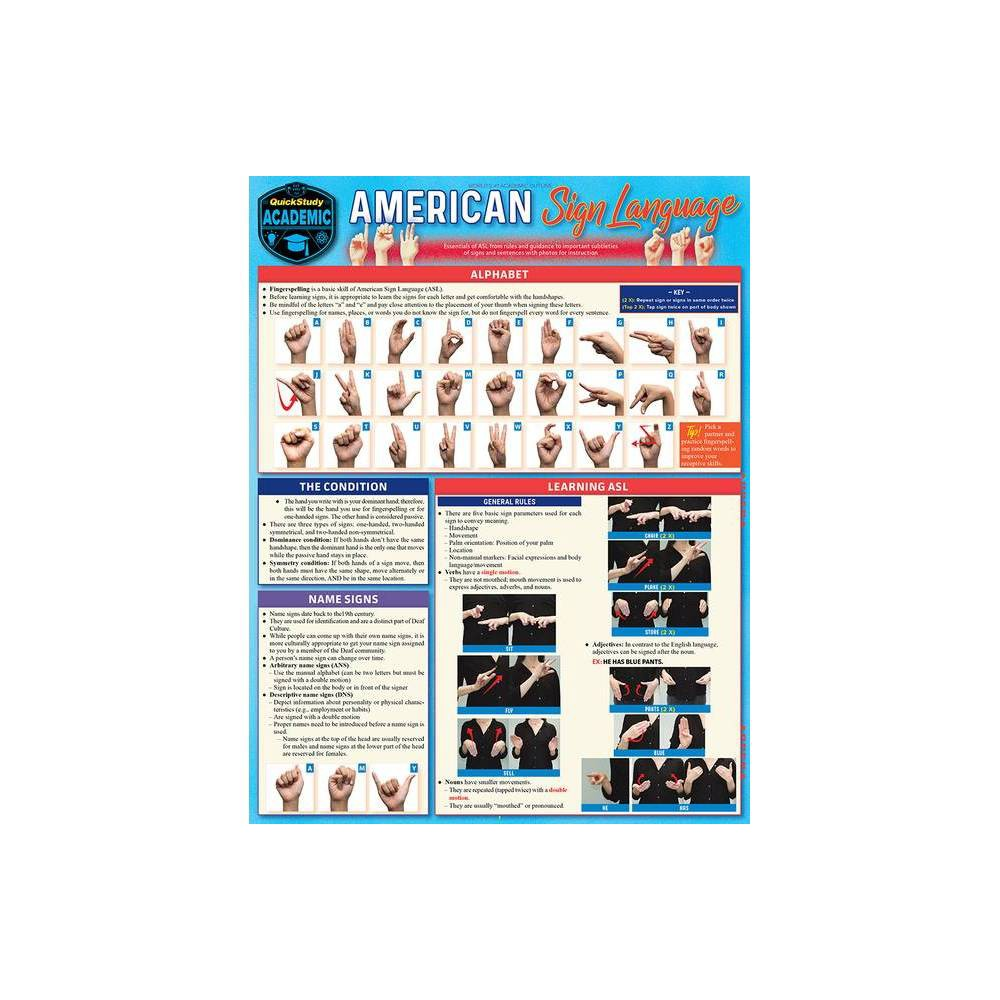 Asl American Sign Language 2nd Edition By David Alianiello Poster