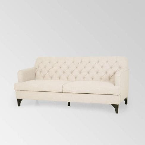 Postwick Contemporary Tufted Sofa Beige