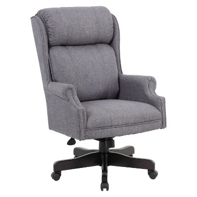 Traditional High Back Executive Chair Slate Gray   Boss : Target