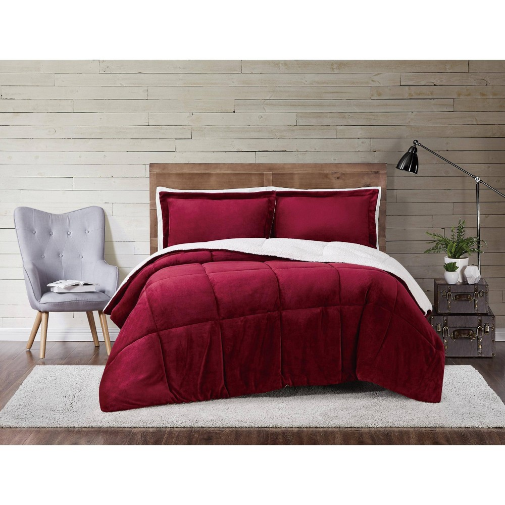 Truly Soft Everyday Full Queen Cuddle Warmth Comforter Set Cabernet