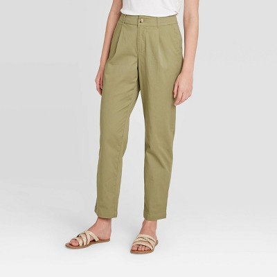 Women's High-Rise Straight Leg Cropped Pants - A New Day™