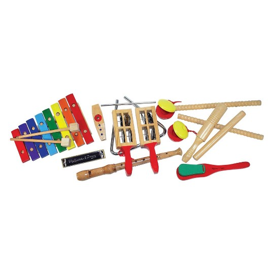 Melissa & Doug Deluxe Band Set With Wooden Musical Instruments and Storage Case image number null