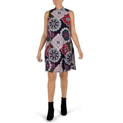 Robbie Bee - Women's Sleeveless Mock Neck Dress