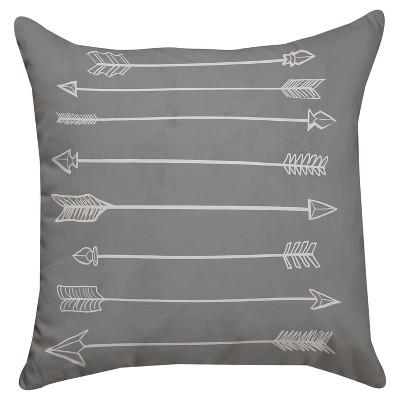 Gray Arrow Throw Pillow (18 x18 )Thumbprintz