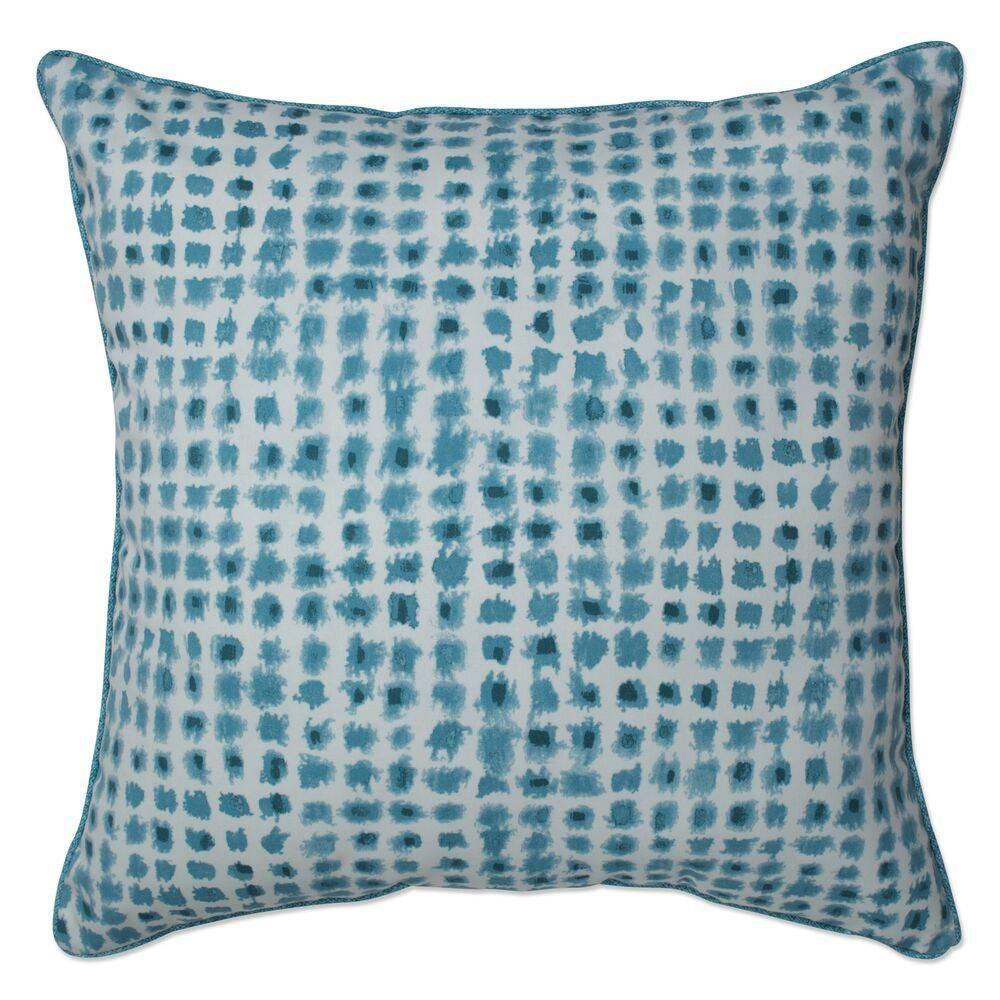 Outdoor Indoor Oversized Throw Pillow Alauda Porcelain Blue Pillow Perfect