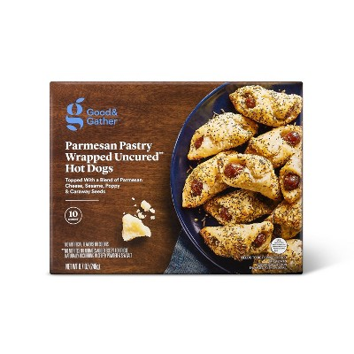 Frozen Parmesan Pastry Wrapped Mini Uncured Beef Hot Dogs - 8.7oz/10ct - Good & Gather™