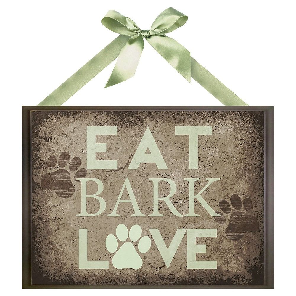 Image of Eat Bark Love Wall Art, Brown
