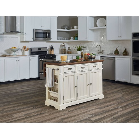 Country Large Kitchen Island With Finished Top White Osp Home Furnishings