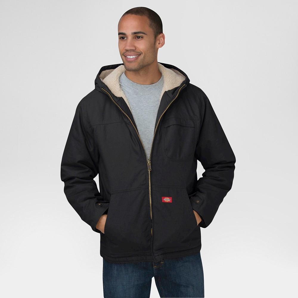 Dickies Men's Duck Sherpa Lined Hooded Jacket Big & Tall Black Xxxl