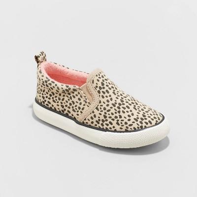 Toddler Girls' Zelia Slip-On Apparel Sneakers - Cat & Jack™ Brown