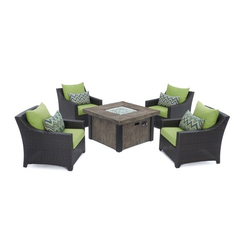 Deco 5pc Metal Outdoor Fire Pit Chat Set - RST Brands - image 1 of 4