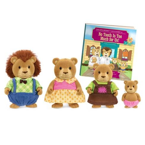 Li'l Woodzeez Miniature Animal Figurine Set - Kingsberry Lion Family - image 1 of 3
