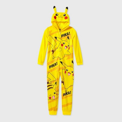 Boys' Pokemon Pika Pika Blanket Sleeper Union Suit - Yellow