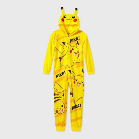 Boys' Pokemon Pika Pika Blanket Sleeper Union Suit - Yellow - image 1 of 2