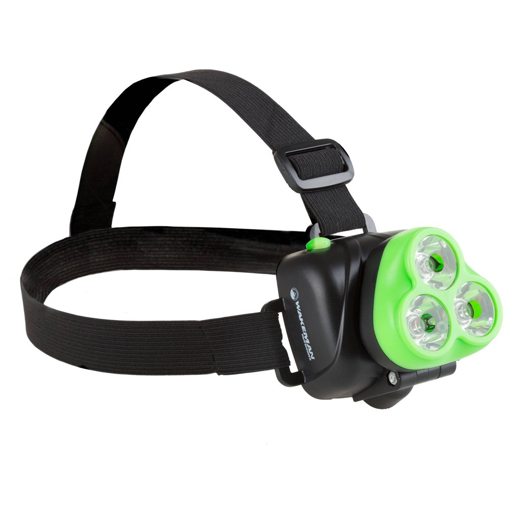Image of Wakeman Adjustable LED Head Lamp Handsfree Flashlight with 120 Lumen - Green