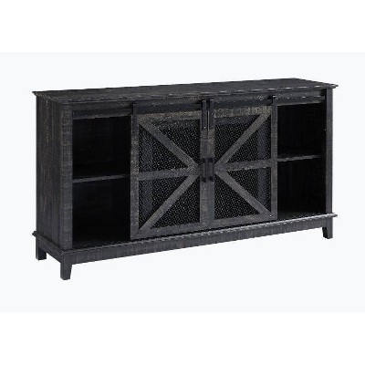 """Farm House TV Stand for TVs up to 60"""" Black - Home Source"""