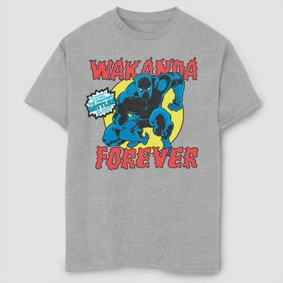Boys' Marvel Black Panther Battles Short Sleeve T-Shirt - Athletic Heather