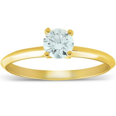 Pompeii3 14k Yellow Gold 5/8 ct Round Solitaire Diamond Engagement Ring - Size 6