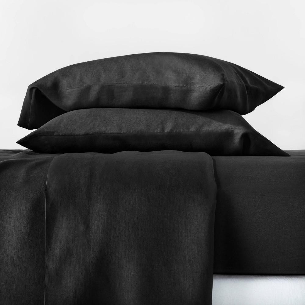Casalunacalifornia King 100 Hemp Solid Sheet Set Washed Black Casaluna Dailymail
